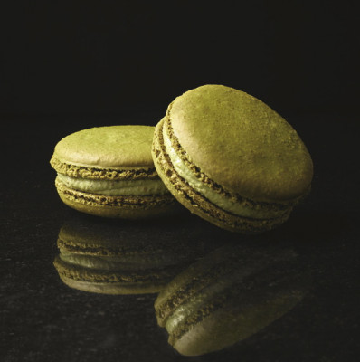 Lot de 2 grands macarons pistache